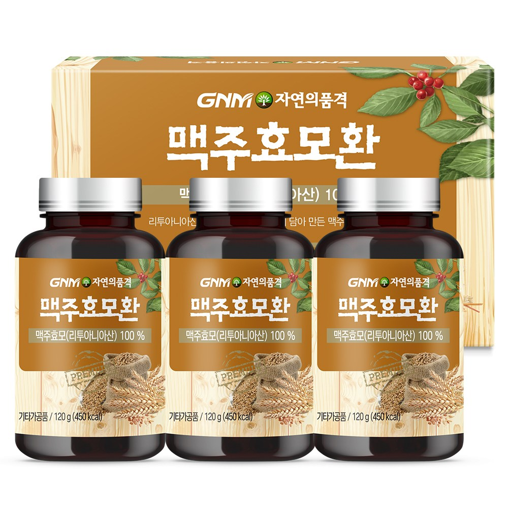 GNM자연의품격 맥주효모환, 120g, 3개