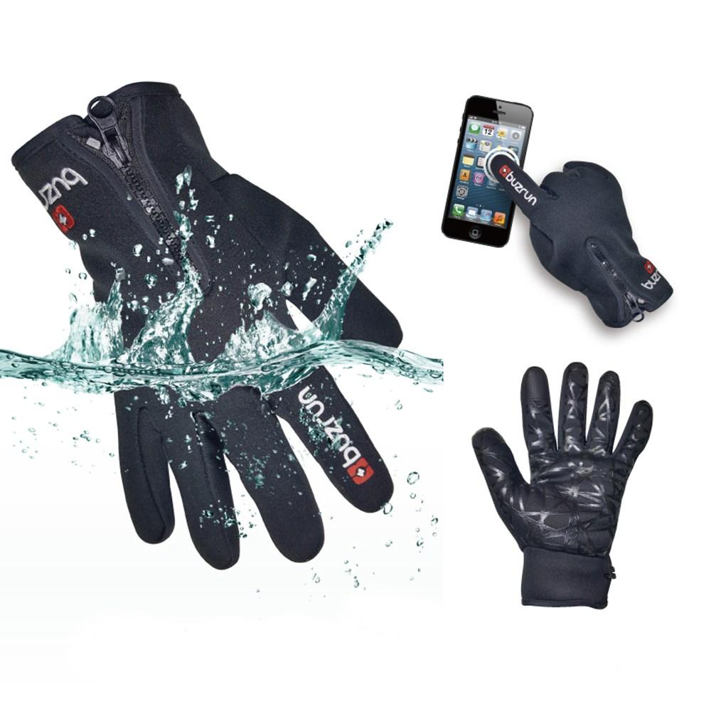 버즈런 bz-s08 방한장갑 네오프렌장갑 보드장갑 스키장갑 다용도장갑, 블랙