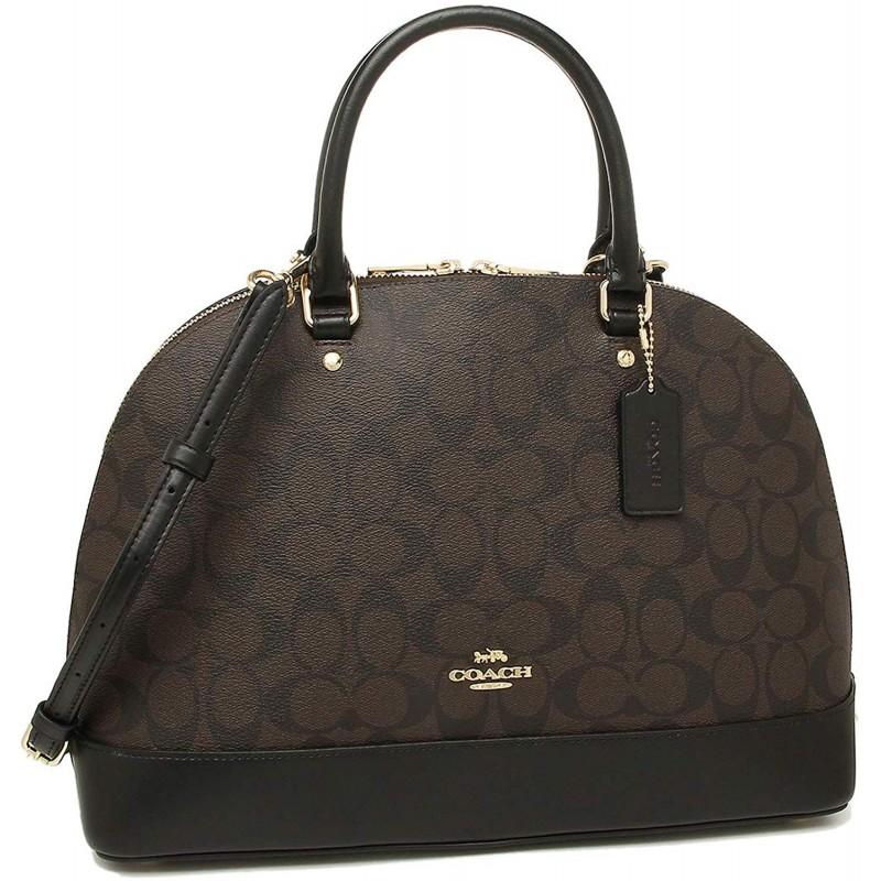 [코치] 가방 아울렛 COACH F27584 시에라 가방 여성 핸드백 숄더백 (1) IMAA8 브라운 / 블랙 [병행 수입