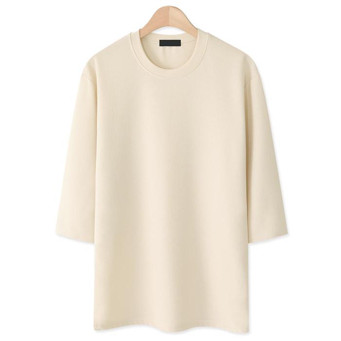 엠엔씨 베이직 엠보 7부 긴팔 티셔츠 MDLT443LW