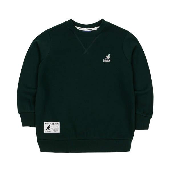 [현대백화점][캉골키즈]AMCCRT01110DN 클럽 로고 스웨트셔츠 0111 다크 그린(남아 티셔츠 여아 티셔츠 남아