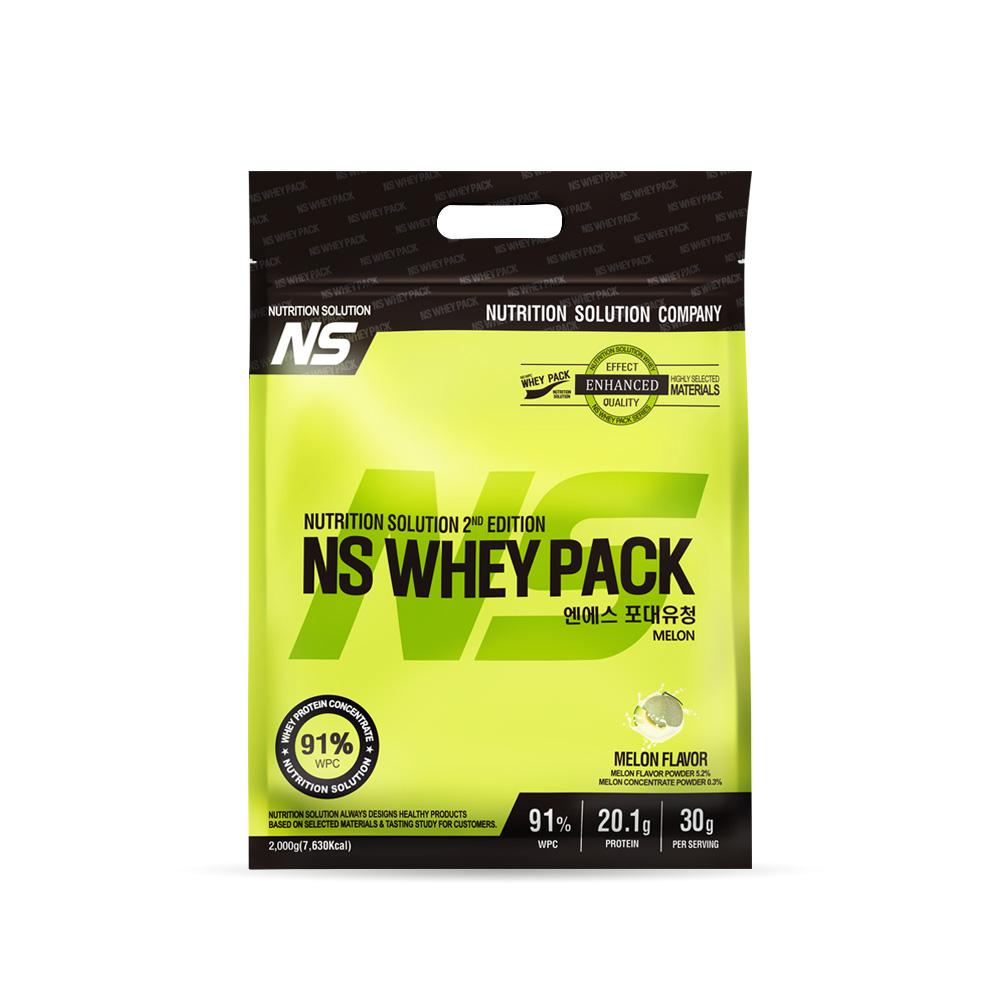 뉴트리션스토어 NS 포대유청 WPC 메론맛 유청단백질가루 단백질쉐이크 프로틴, 1팩, 2kg