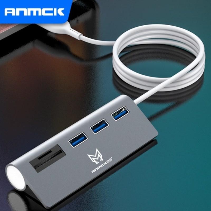 USB 허브 Anmck 5 포트 2.0 노트북 용 SD 카드 리더기 PC 케이블선 정리, SD TF가있는 USB 허브