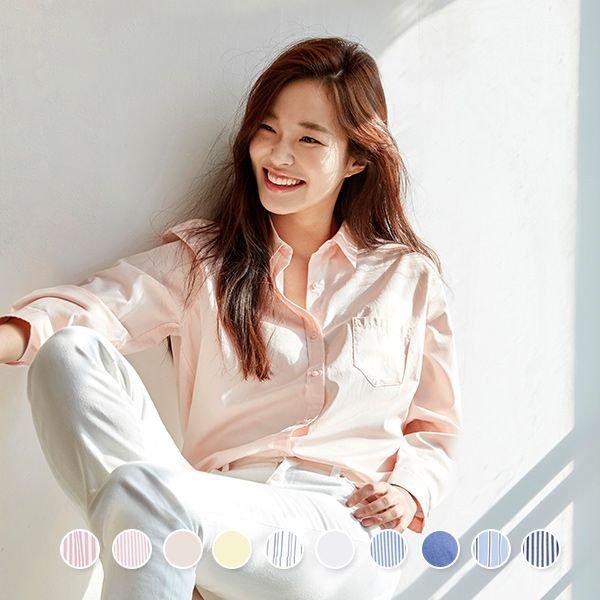 지오다노[여성]포플린 셔츠(05349501)(349501)