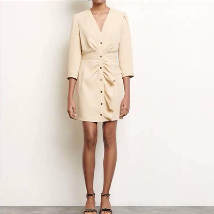 산드로 원피스 Robe courte basque