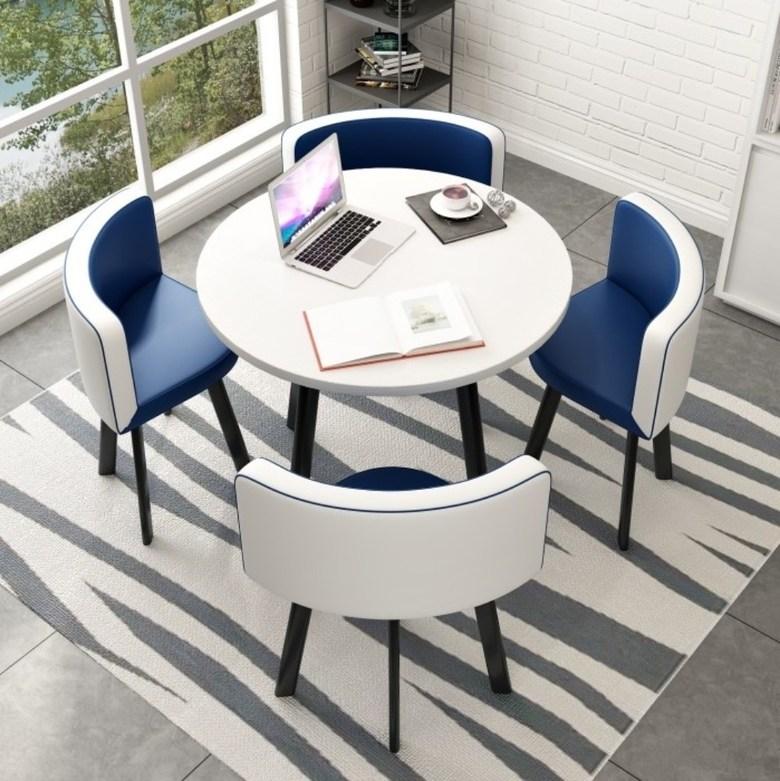 매장 로비 고급 인테리어 테이블 의자 세트 4인 회의테이블, K62