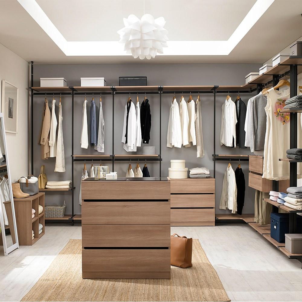 심포니 드레스룸 행거 10cm당 시스템장 시스템옷장 시스템행거, 제트블랙프레임+화이트선반