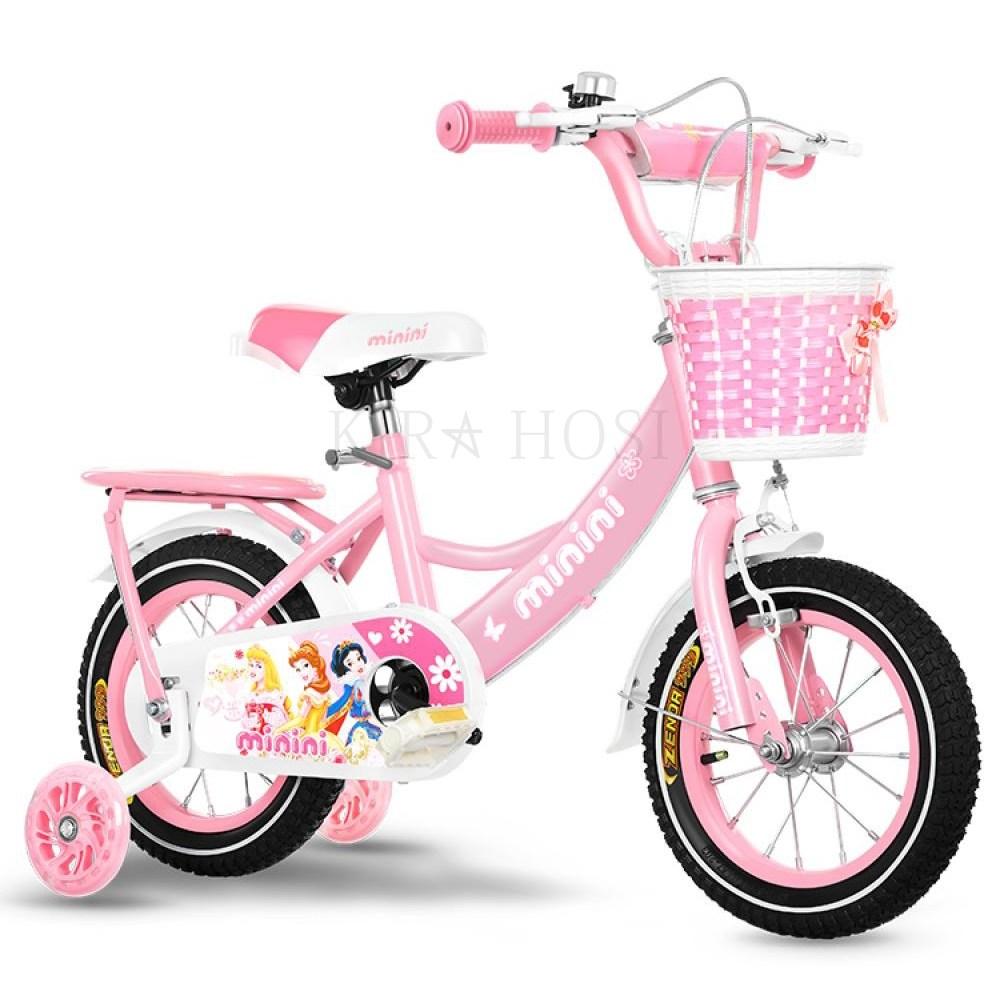 kirahosi 미니키즈 자전거 유아 유아 아동 자전거 선물 519 +덧신 증정 DO2tu7kc, 12치 핑크