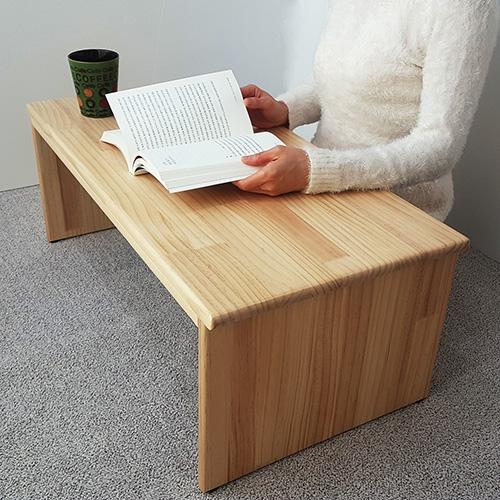 림스우드 접이식 좌식책상 800 앉은뱅이책상 원목책상 노트북책상 낮은책상 1인용 좌식책상, 높이 31cm