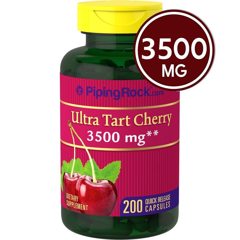 타트 체리 캡슐 | 7000 mg의 | 200 알약 | 최대 근력 | 비 GMO 글루텐 무료 | 타트 체리 주스 추출 | 칼라일에 의해 Car, 단일상품