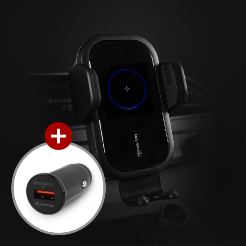 메이튼 차량용 핸드폰 고속 무선충전 거치대 - 고충 version.2, 고충2 + 전용 시거잭 1구