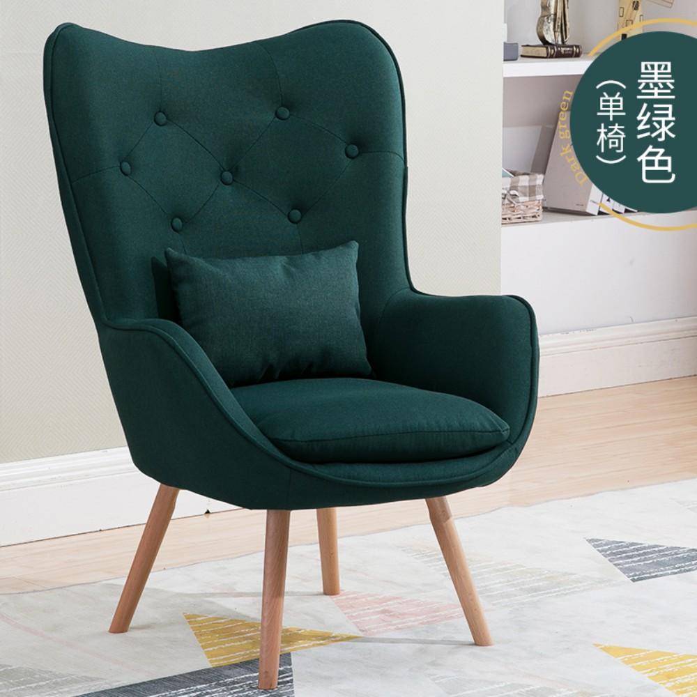 북유럽 인테리어 1인용 안락 의자 독서 수유 체어 암체어, B(쿠션미포함)
