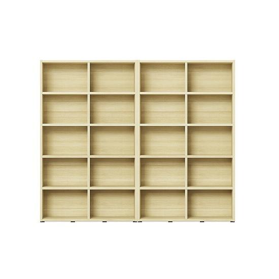 한샘 샘 와이드 책장 5단 120cm 시공 2set (컬러 택1), 책장(컬러):메이플(C)