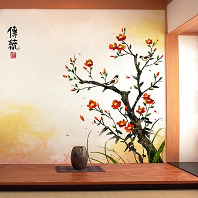 [제이크루샵]W003249 동양화 뮤럴벽지_D106(펄실크재질) 사이즈선택 실크벽지 포인트벽지 디자인벽지 일러스트벽지 상품설명 필수확인