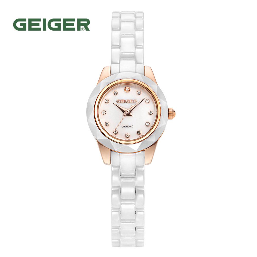가이거[GEIGER] [본사 정품] 가이거 GE8023 RGW 화이트 세라믹 시계(팔찌 사은품 증정)