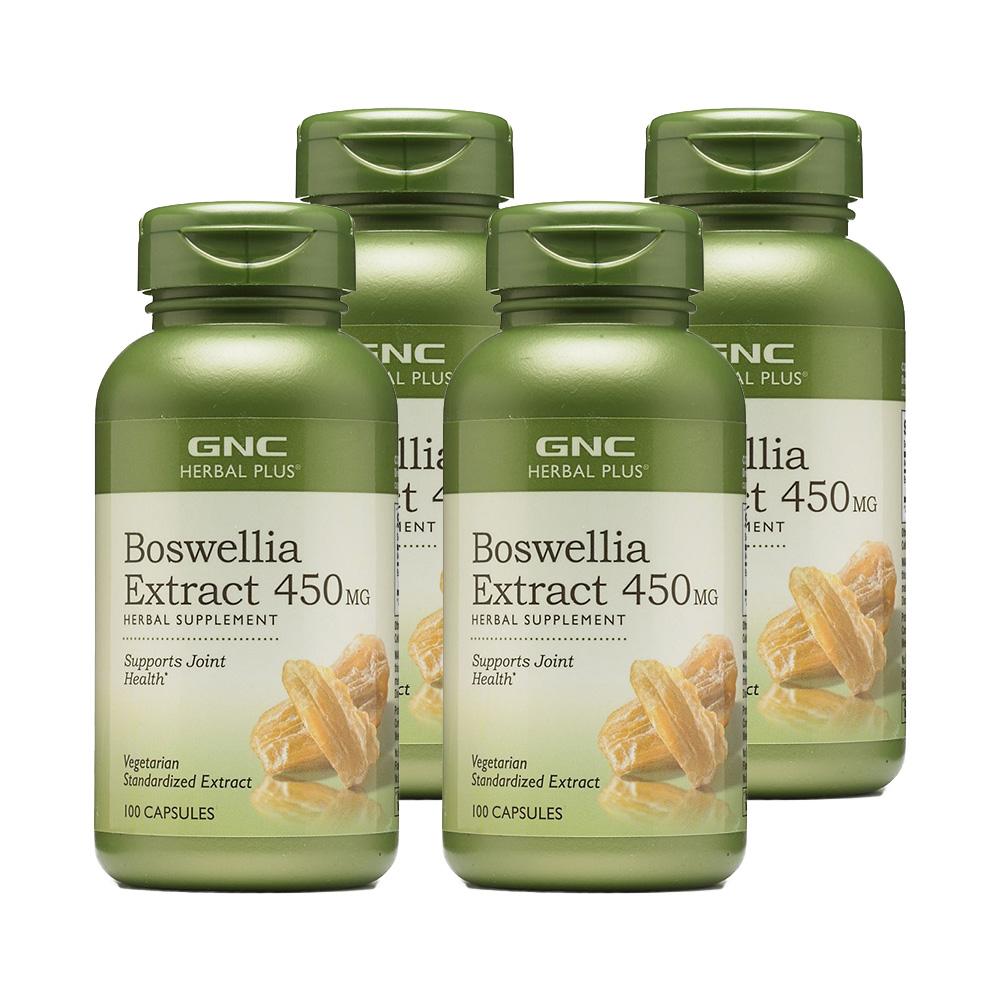 GNC [4개 SET] 허벌 플러스 보스웰리아 추출물 450mg 100정 (캡슐) Herbal Plus Boswellia 100 caps 450mg, 1개-4-261832704