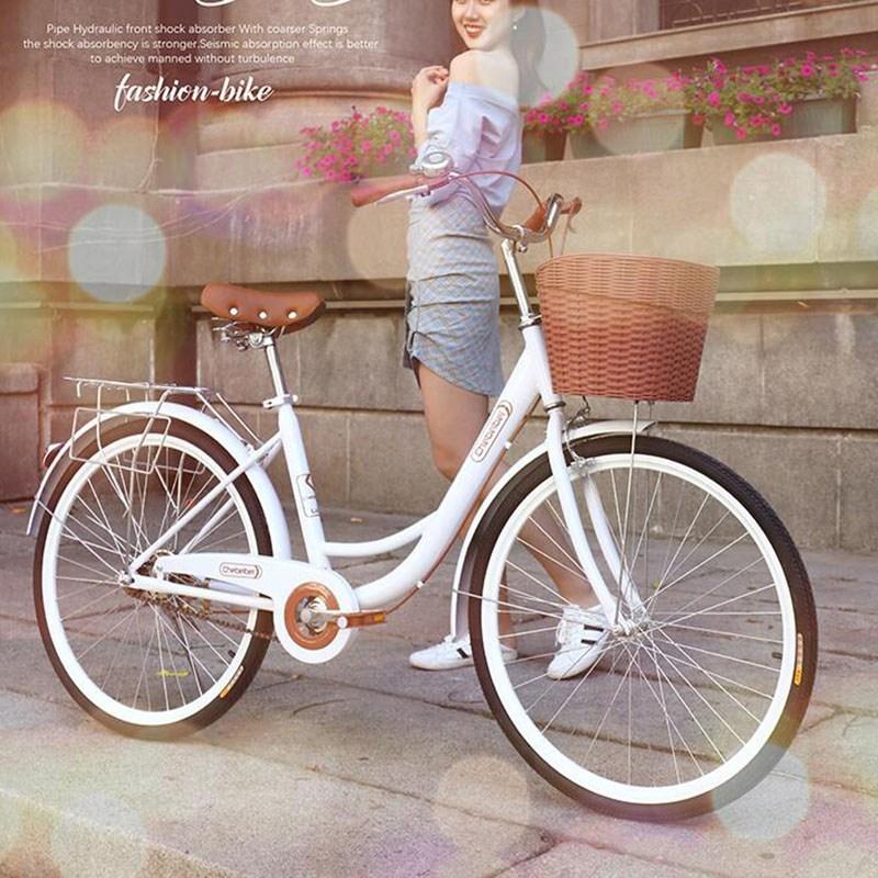 성인 이륜 자전거 학생 등교 일반 자전거PP2505, 화이트24인치
