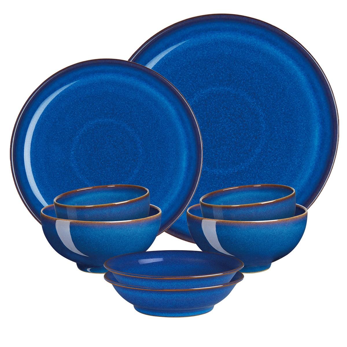 덴비 임페리얼 블루 한식기 세트 8P