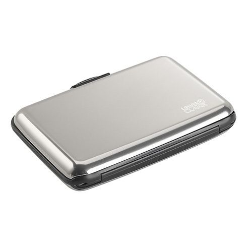 RFID 차단 가능한 알루미늄 지갑 실버