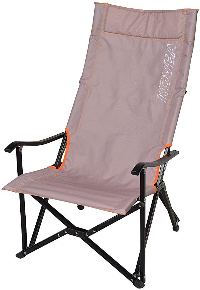 KOVEA (코베아) 접이식 의자 LOW LONG RELAX CHAIR [수납 케이스 포함] 길고 앉아도 편안 [정품] 베이지 KECT9CA-02