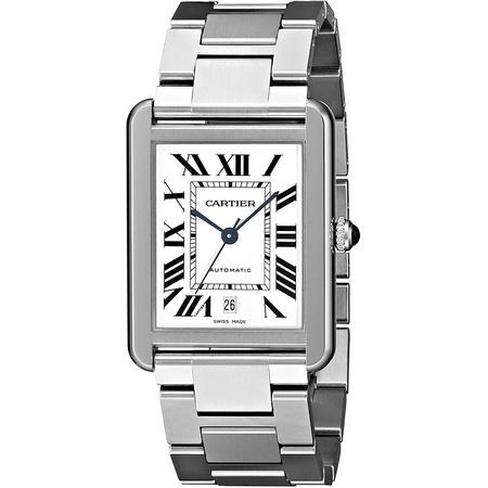 Cartier Mens W5200028 Analog Display Automatic Self Wind Silver Watch PROD80005226