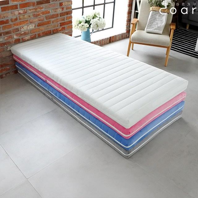 도아르 벙커 2층 침대 자취 원룸 바닥 얇은 매트리스, 벨로아화이트