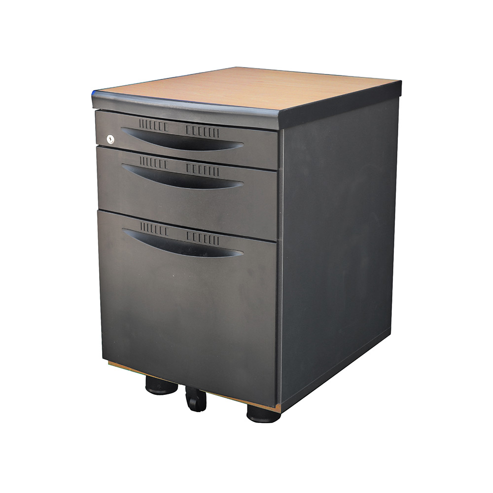 사무용서랍장 책상서랍 3단서랍장 가벼운서랍장 서랍, 블랙사출_망펄비치