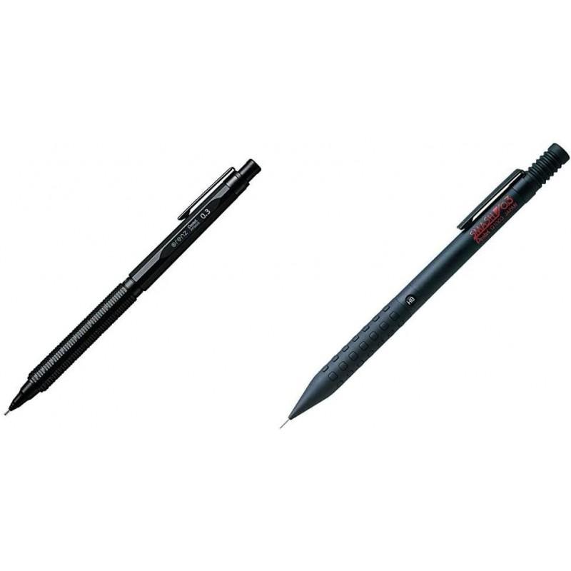【세트 구매] 펜텔 샤프 오렌즈네로 0.3mm PP3003 - A & 샤프 스매쉬 0.3mm Q1003-1N 블랙