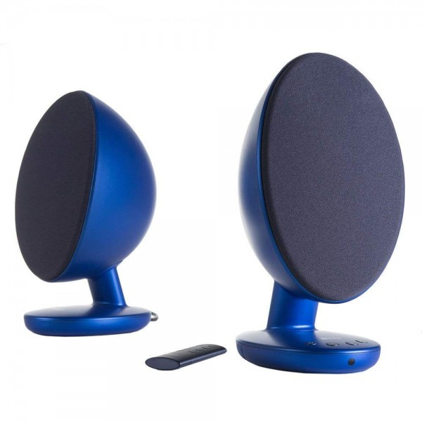 KEF EGG 다목적 데스크탑 스피커 시스템-프로 스티드 블루 (쌍)