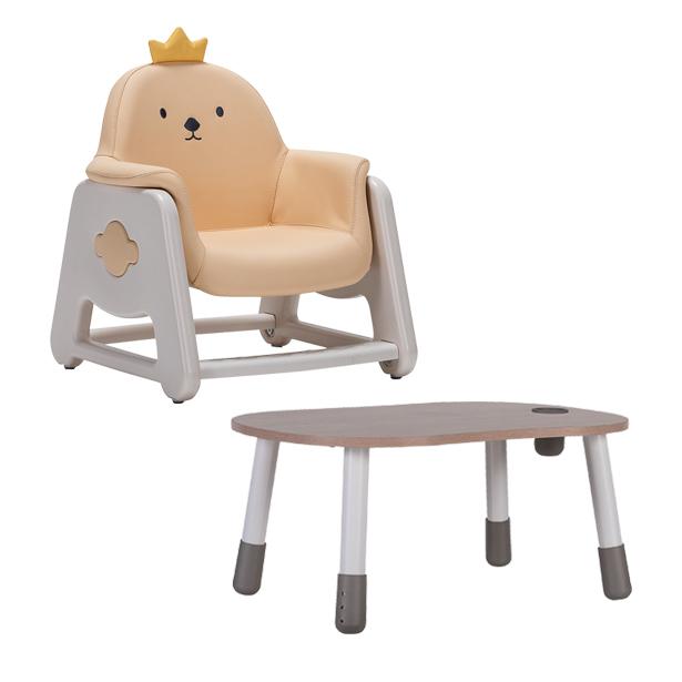 리바트온라인 뚜뚜 높이조절 아이 책상 의자세트 (병아리 베어), 병아리
