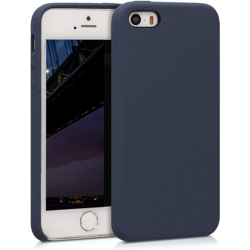 독일직수입 애플 아이폰 SE와 호환 kwmobile 슬리브 (1 세대 2016) / 5 / 5S - 휴대 전화 소매 고무 - 어두운 파란색 매트의