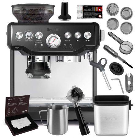 Breville BES870XL Barista Express Espresso Machine Brushed Stainless Steel + Manufacturers Warranty, Stainless Steel + Knock Box Mini Bundle_-Espresso Machine