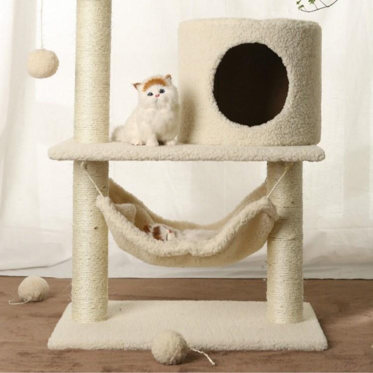 미래물 캣츠 팰리스 소형 고양이 나무 널빤지 캡처 장난감ZZW, 1개, 브라운A1
