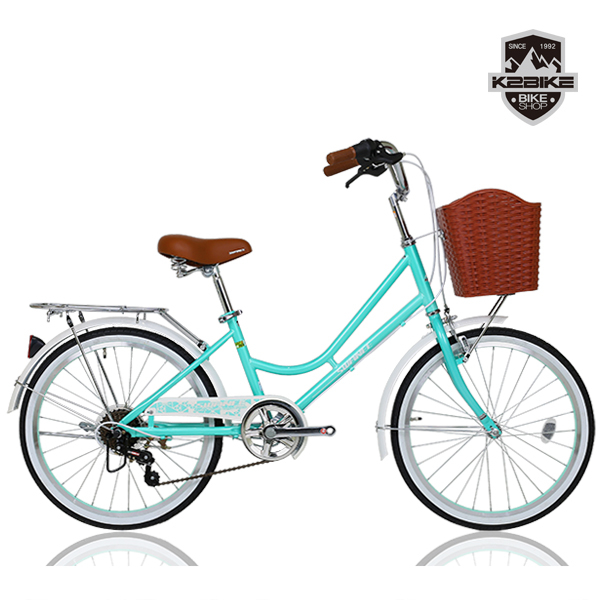 K2BIKE 2020 클래식 여성용자전거 스와니 22인치 7단 자전거, 스와니22인치 민트 미조립+소형공구