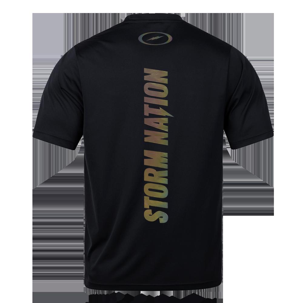 스톰 라운드 티셔츠 _블랙 / 스톰 홀로그램 티셔츠 JTR-003(Black)