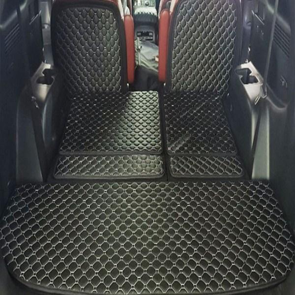 콤모 차박매트 트렁크 가죽 방수풀커버, 싼타페DM 7인승, 블랙-화이트