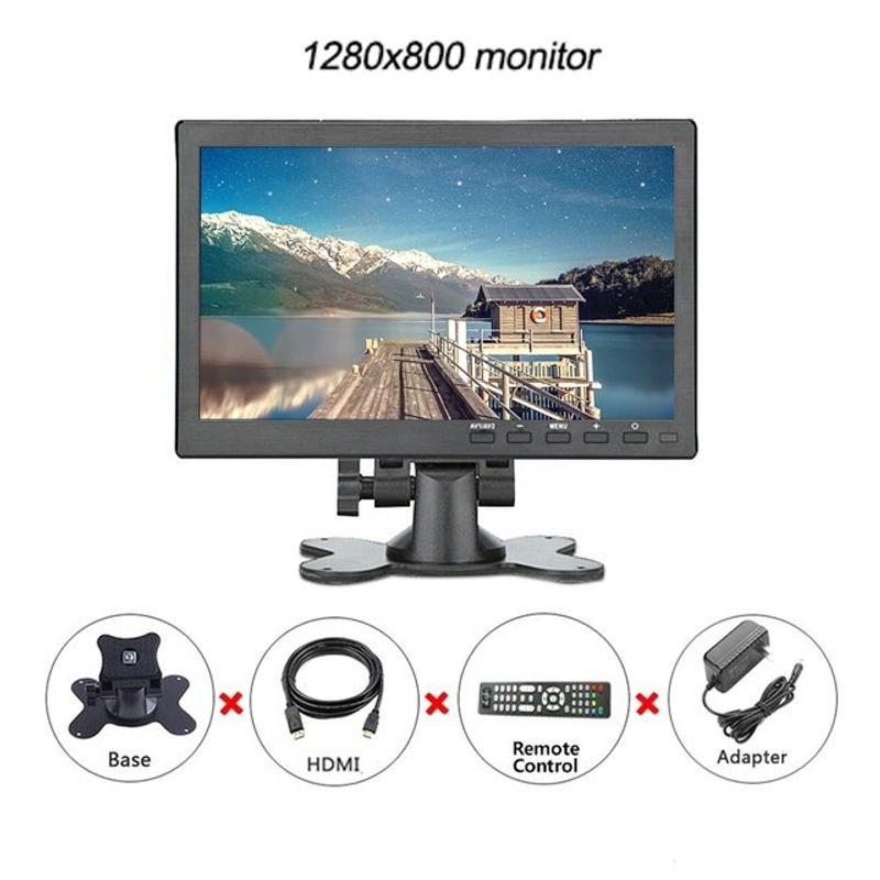 라미무역 해외배송 휴대용 10.1 인치 터치 스크린 모니터 IPS 1920x1200 BNC AV VGA HDMI USB 게임 모니터 PC가있는 소형 미니 HD LCD, 1280x800 (POP 5691690007)