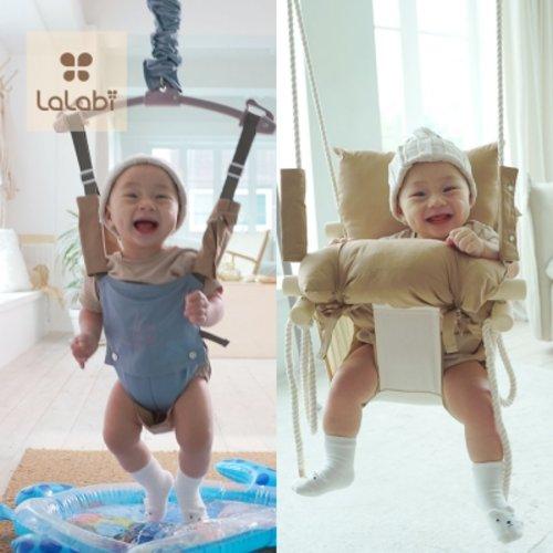[텐바이텐] 프리미엄 라라비 스윙점퍼 풀세트 아기그네 변신 점퍼루 쏘서, 2.프리미엄풀세트_블루/그네_브라운