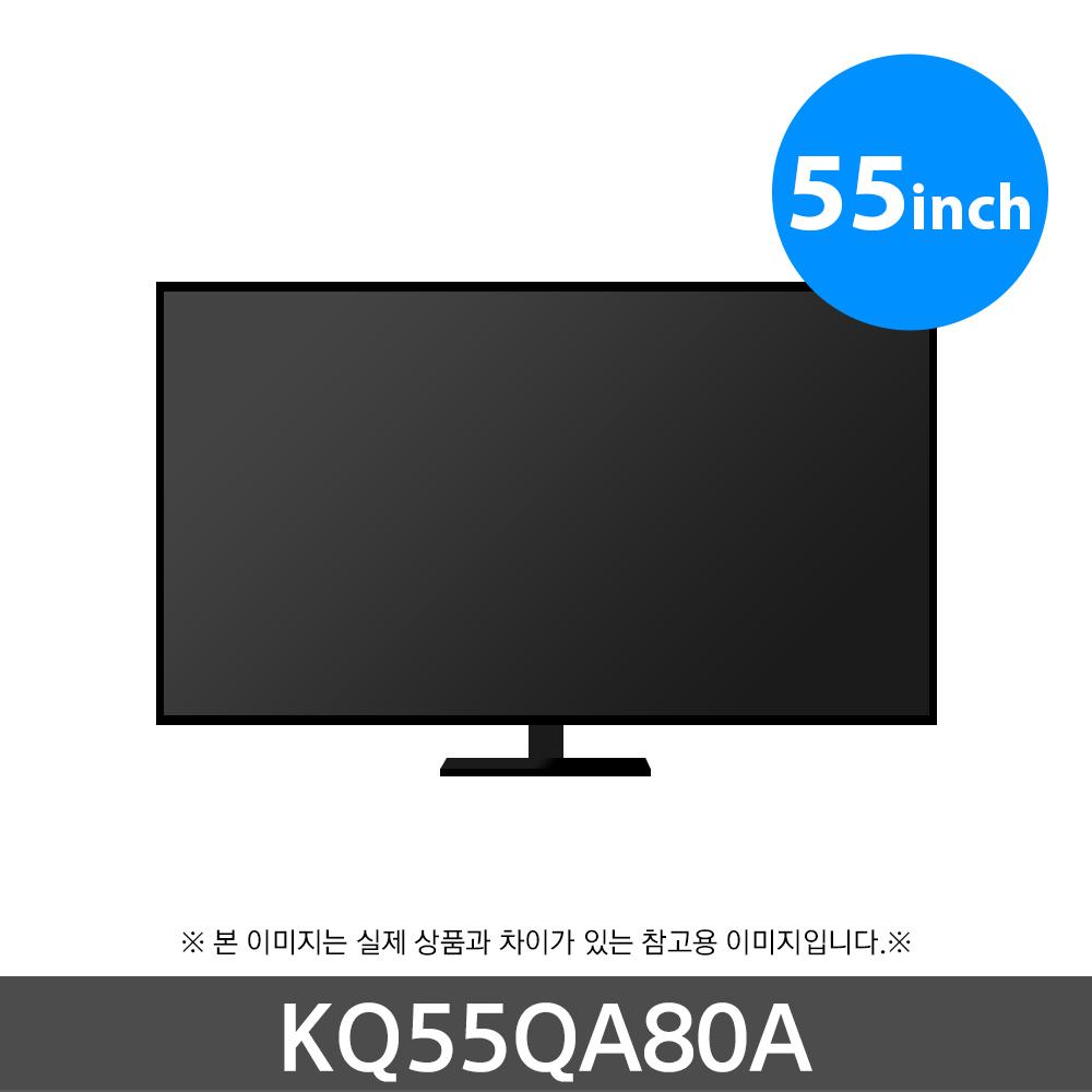 삼성 QLED 4K TV KQ55QA80AFXKR 스탠드형, 단품 (POP 5724365796)