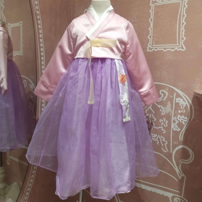 로엠걸즈 원피스형 한복 원피스만 따로 입히셔도 예뻐요