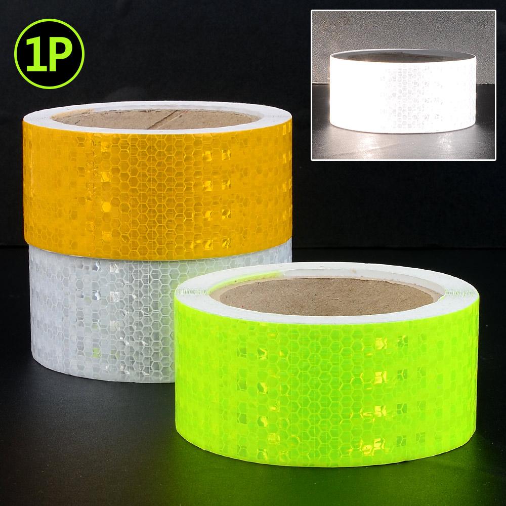 안전반사테이프 벌집무늬반사테이프 5cm X 10M 차량용 벌집무늬테이프 안전표시테이프 야광반사테이프 자동차 형광, 형광색