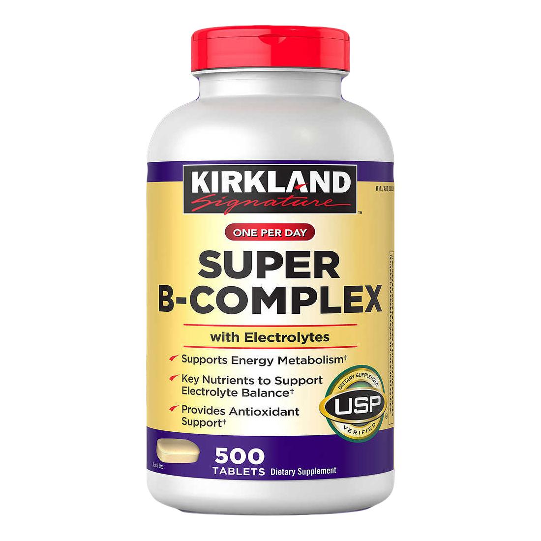 커클랜드 슈퍼 B 컴플렉스 500정 (타블렛) Kirkland Signature Super Complex 500tabs, 1개