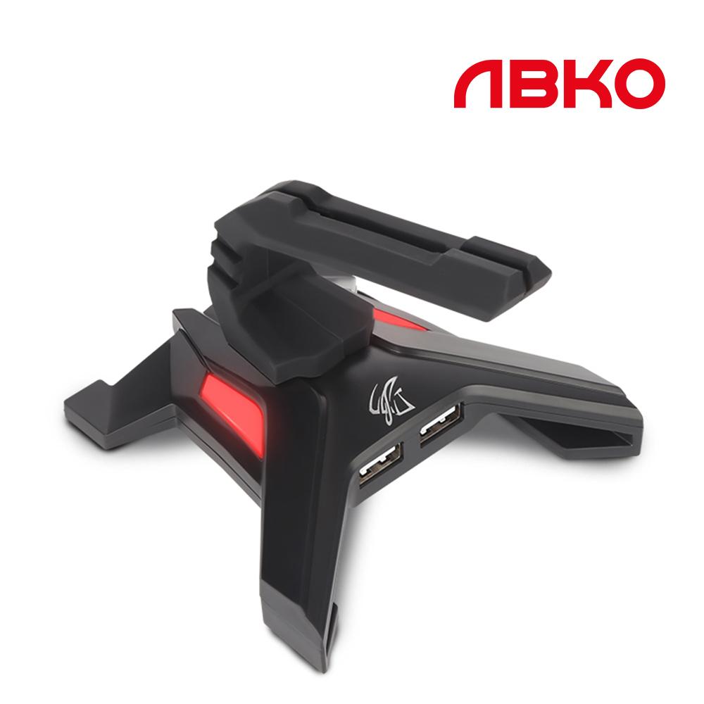 앱코 HACKER CORE1 마우스 번지 USB 허브내장, 1개, 블랙