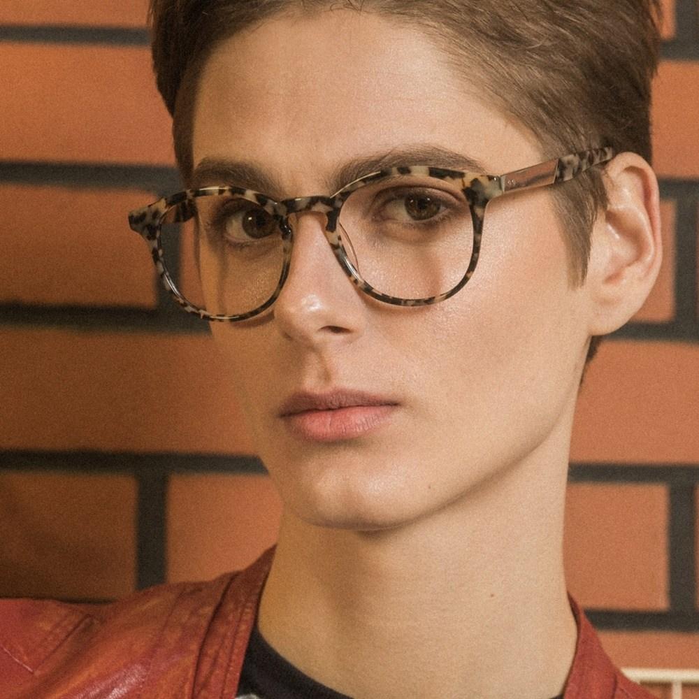 LIME marble 안경테 고르는법 알작은 다초점 둥근