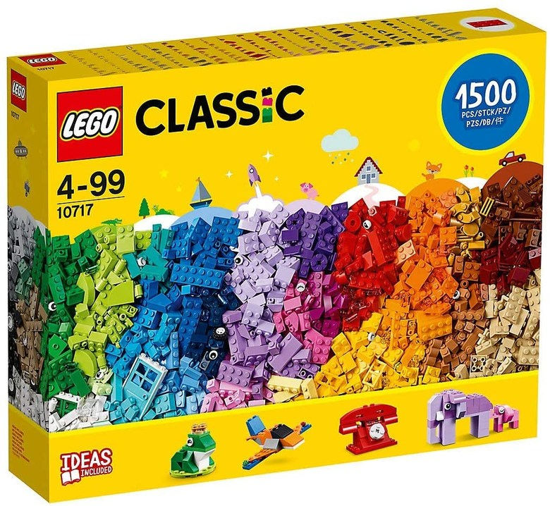 LEGO Classic Bricks Set - 10717 1500 Pieces for Ages 4-99 Plastic 3 Levels of Building Complexit-B07HGR9M6Z, one color / one size