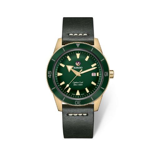[라도][스와치그룹코리아 정품] RADO 라도 캡틴 쿡 브론즈 그린 남성시계 R32504315