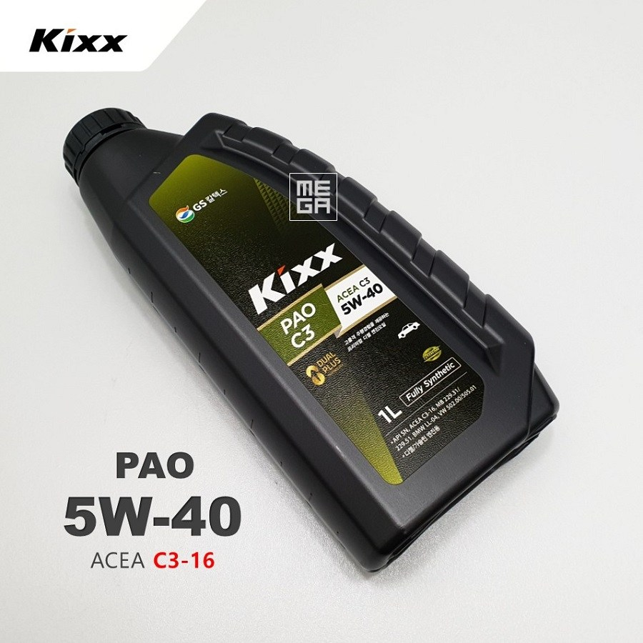 GS KIXX PAO C3 5W40 합성엔진오일 1L, 1개, PAO C3 5W40 1L