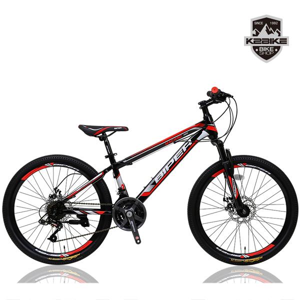 K2BIKE 2021 MTB자전거 메커드SFD 24인치 21단 디스크 MTB 자전거, 메커드SFD 24인치 블랙+레드 미조립+소형공구
