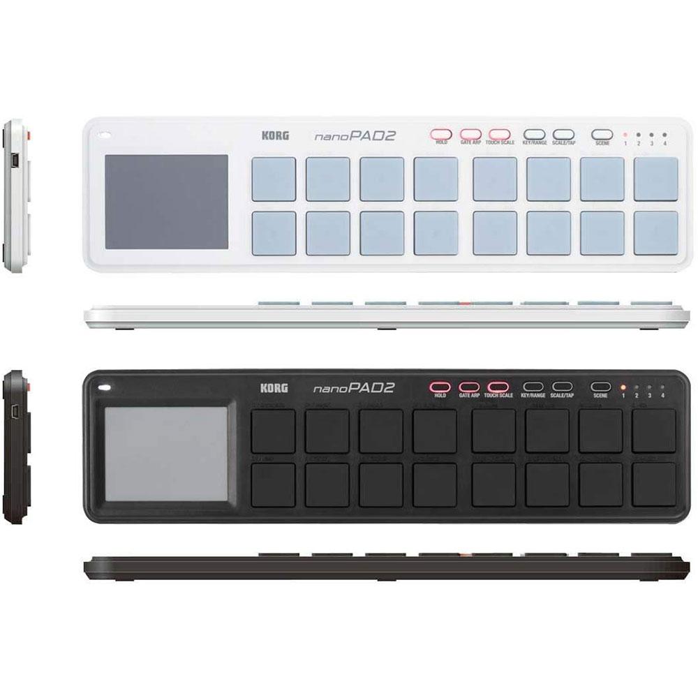 KORG 코르그 USB MIDI 컨트롤러 나노PAD2, 화이트(B004M8UZ0G)