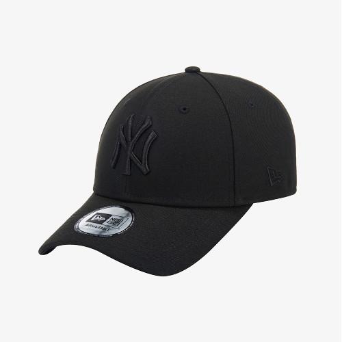 [뉴에라][공용]MLB 뉴욕 양키스 베이직 블랙 온 블랙 볼캡 블랙 (12359627)